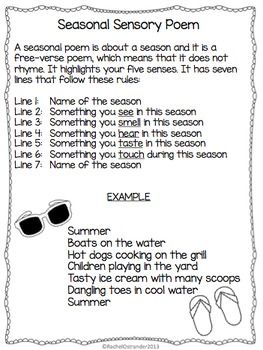 seasonal sensory poem defining writing reading first grade poems poetry lessons 3rd. Black Bedroom Furniture Sets. Home Design Ideas