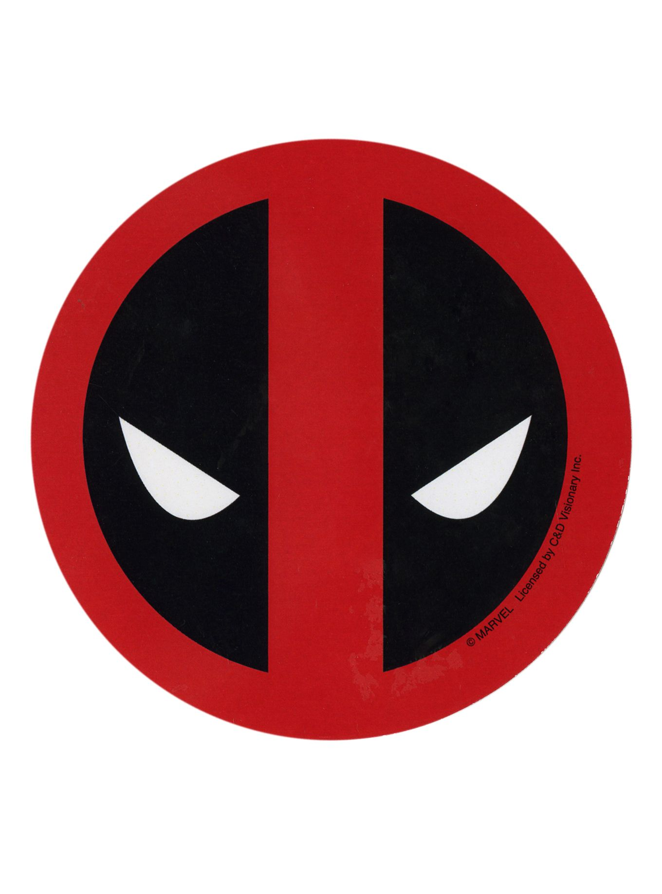 Die Cut Sticker Of The Deadpool Mask Logo Superheroes Pinterest
