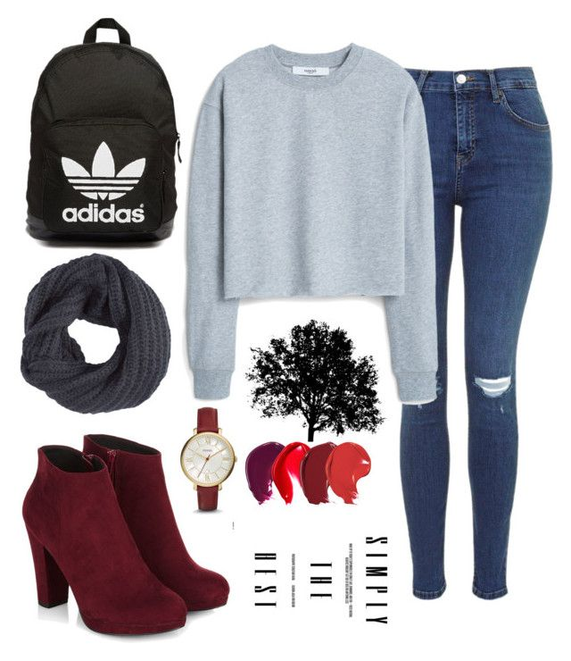 """""""Casual"""" by lourdes-gio on Polyvore featuring MANGO, FOSSIL, adidas Originals and Pistil"""