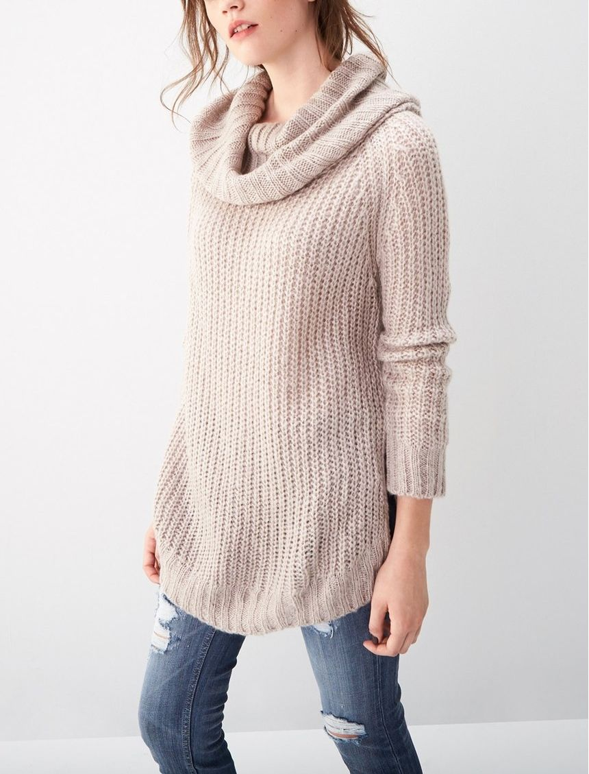 Junior Women's Dreamers by Debut Cowl Neck Sweater