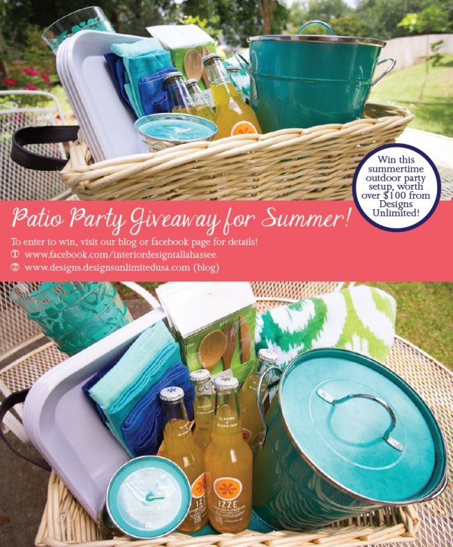 Enter To Win This Free Patio Party Gift Basket Now! Winner Will Be Chosen  Monday