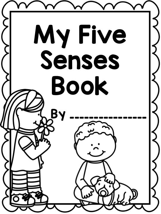 Design A Book Cover Worksheet ~ The five senses printable worksheets mini book