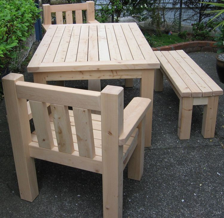Macrocarpa Outdoor Table Chairs And Bench Seat Outdoor