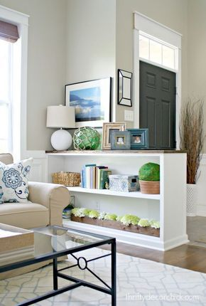 How To Make An Entryway When You Don T Have One Living Room Remodel Room Remodeling Cheap Home Decor