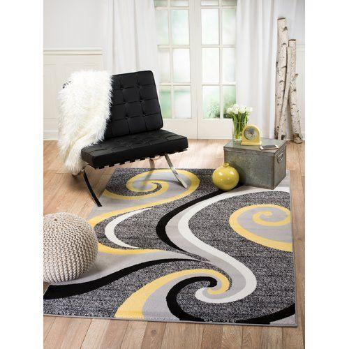 Found It At Wayfair Ca Summit Grey Yellow Indoor Area Rug Yellow Bedroom Decor Grey Bedroom Decor Decor