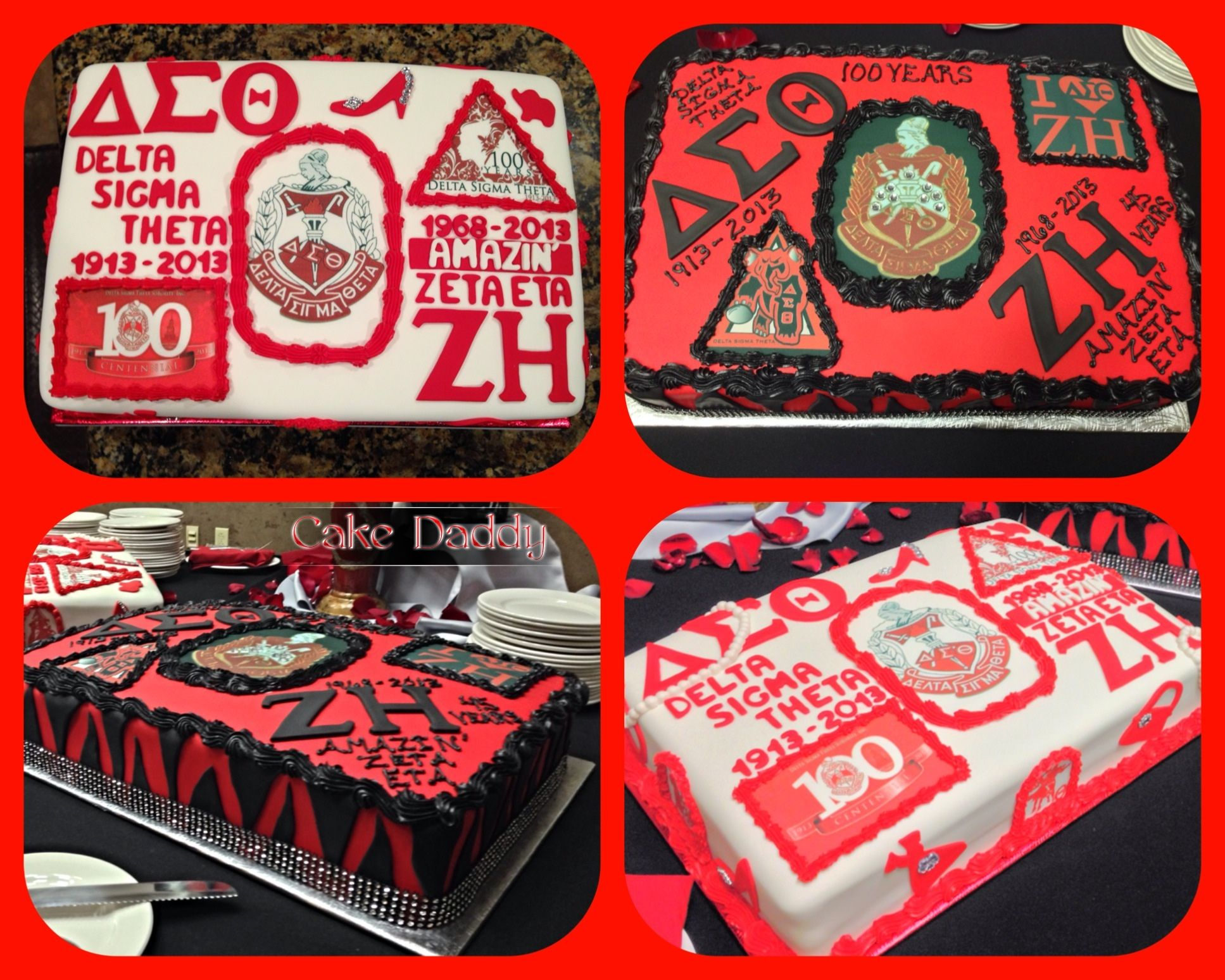 40 fabulous cake crimson cream sorority greek flowers delta sigma theta cakes buycottarizona Choice Image