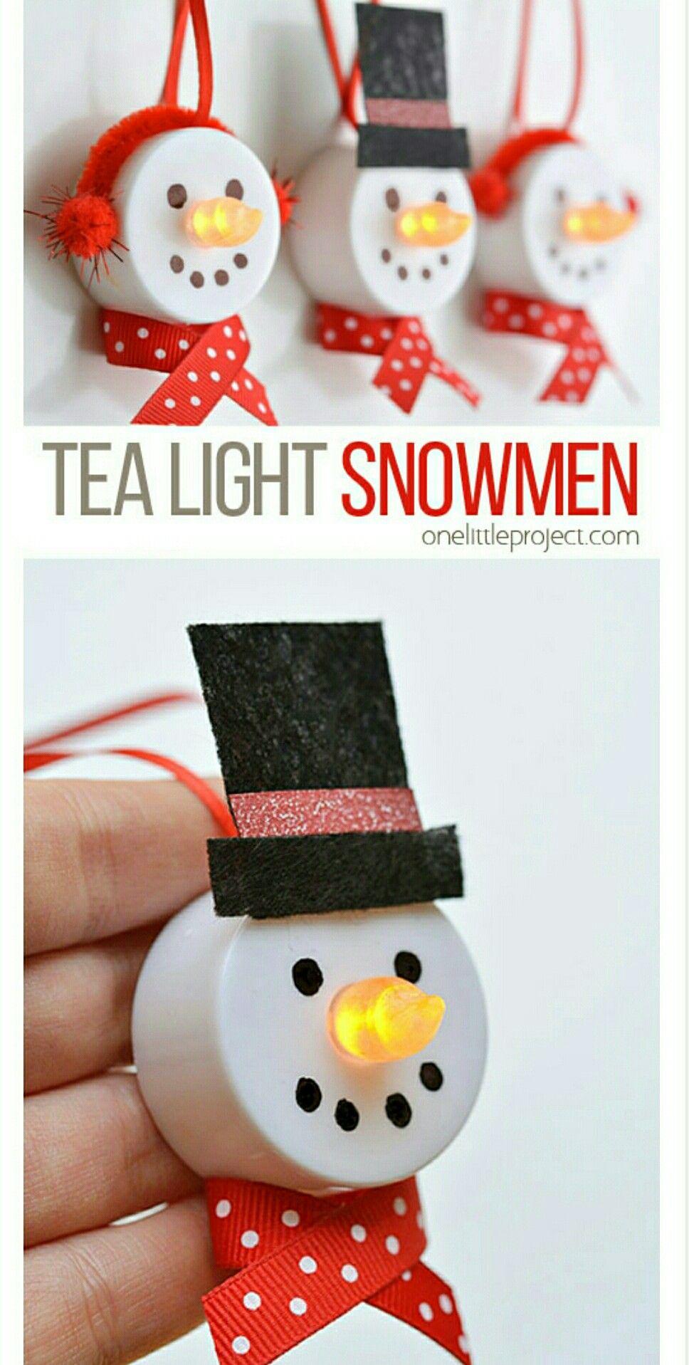 Tea Light Snowman Ornaments Diy Christmas Ornaments For Toddlers Tea Light Snowman Diy Christmas Gifts For Kids