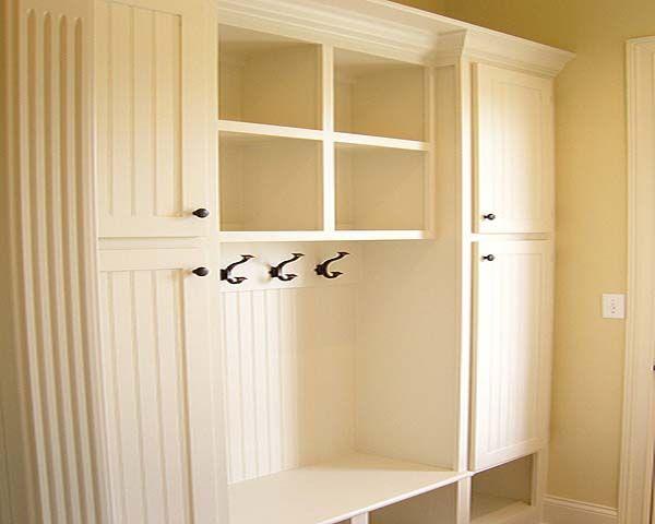 Mudroom Locker Plans Plain White Foyer Storage Mud Room Storage Home
