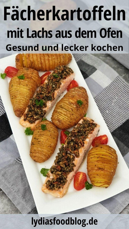 Lachs mit Fächerkartoffeln aus dem Ofen, Kartoffeln einmal erfrischend anders. …