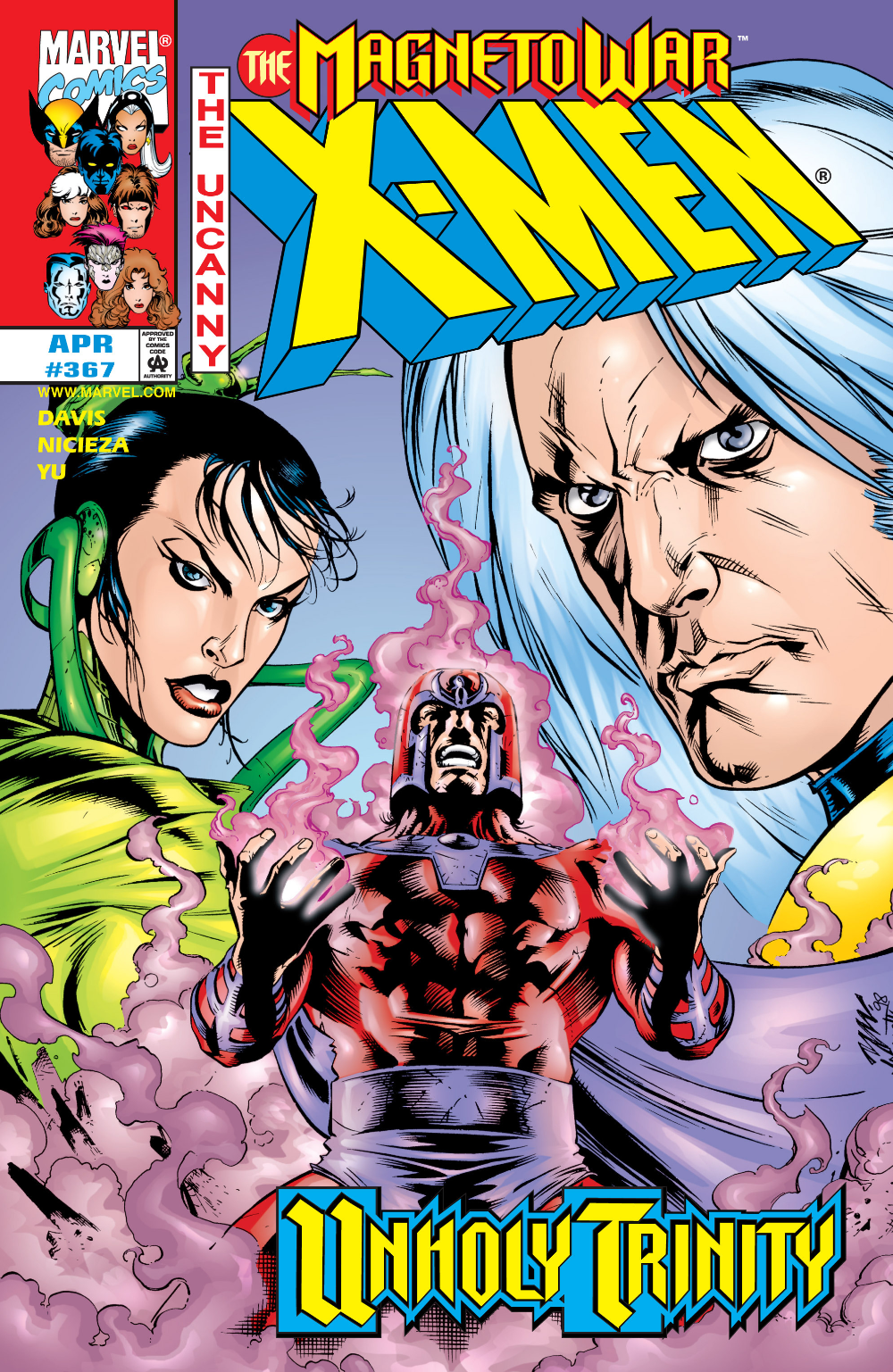 Uncanny X Men 367 April 1999 Marvel Comics Covers Marvel Villains Comic Book Heroes