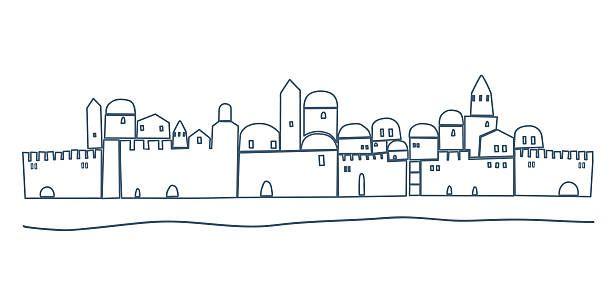 Line Drawing Jerusalem : Jerusalem night clip art vector images illustrations