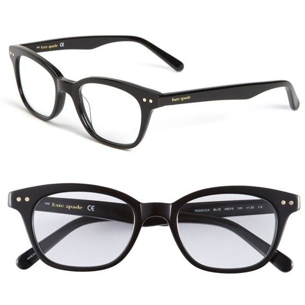 e6279462a1ec kate spade new york 'rebecca' 49mm reading glasses ($68) ❤ liked on Polyvore  featuring accessories, eyewear, eyeglasses, glasses, sunglasses, okulary,  ...