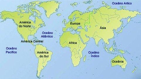 Mapa Continentes Busca De Google Enseñanza De La Geografía Poemas Cortos Para Niños Delfines Para Colorear