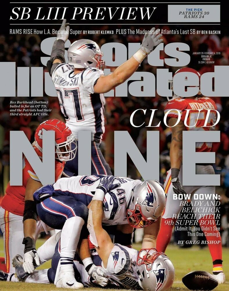 New England Patriots Super Bowl 53 Sports Illustrated Cover Photo Select Size Sports Illustrated Covers Sports Illustrated New England Patriots