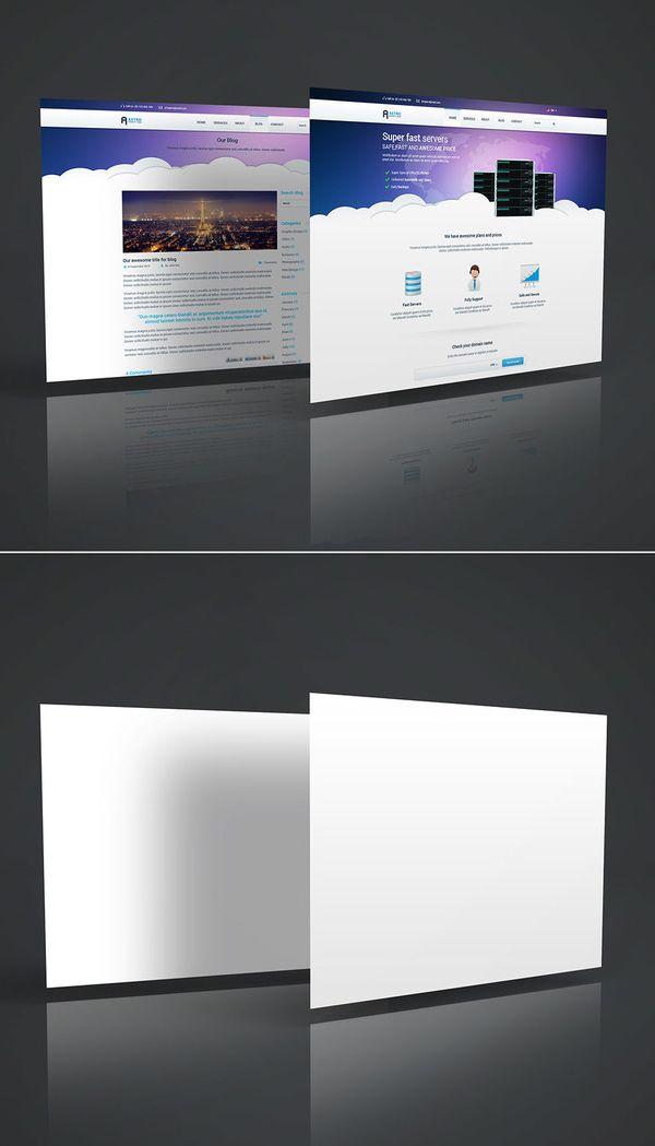 Free 3D Website Display Mockup Mockup Templates for Designers