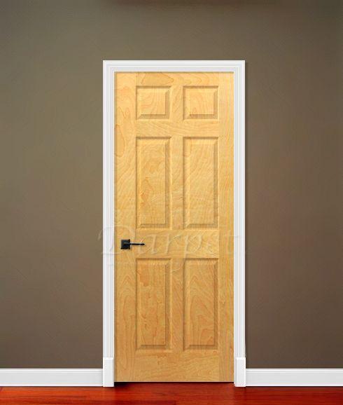 6 Panel White Birch 6 8 80 Darpet Interior Doors For Chicago