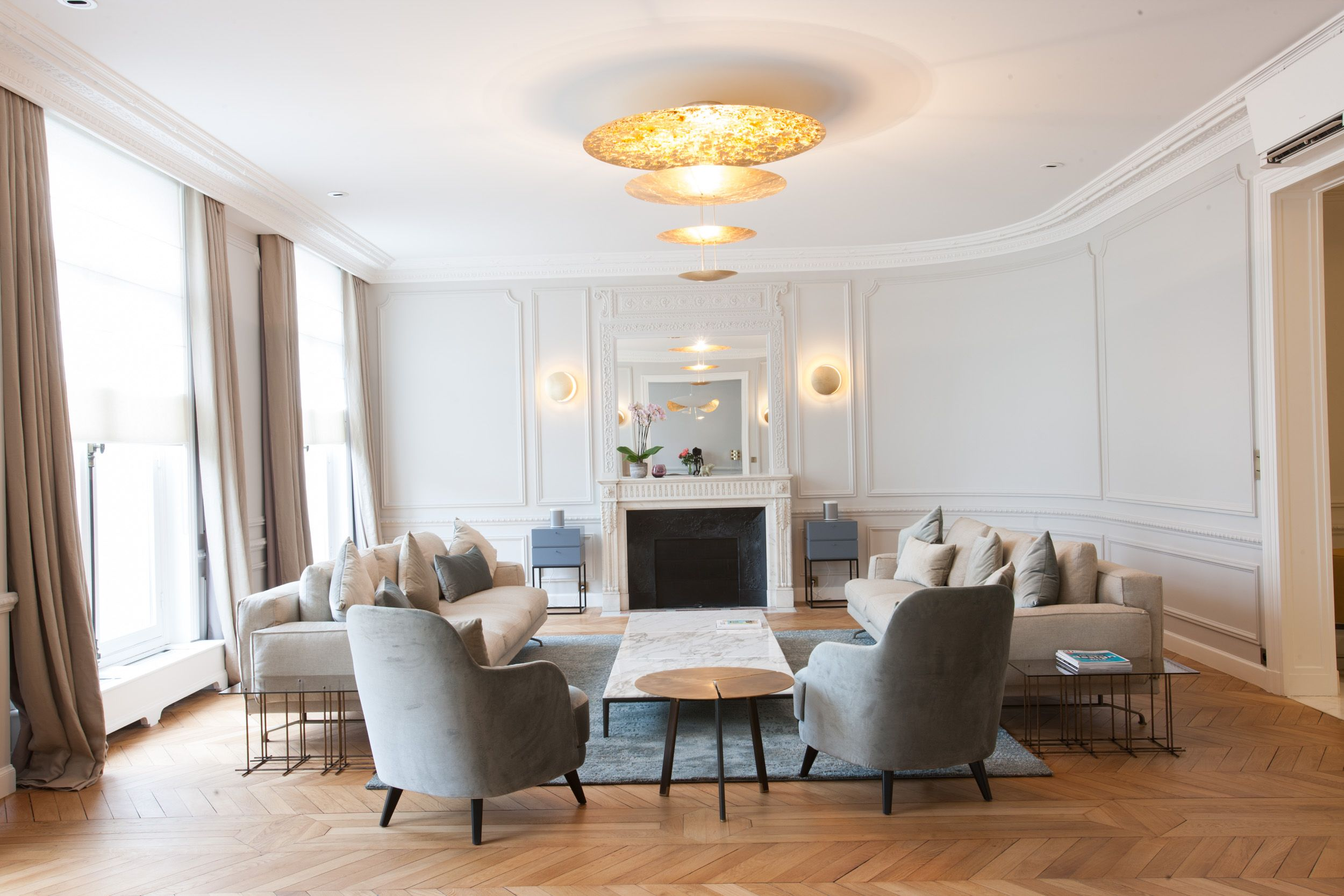 salon appartement haussmannien   REALISATIONS - PROJETS   Pinterest
