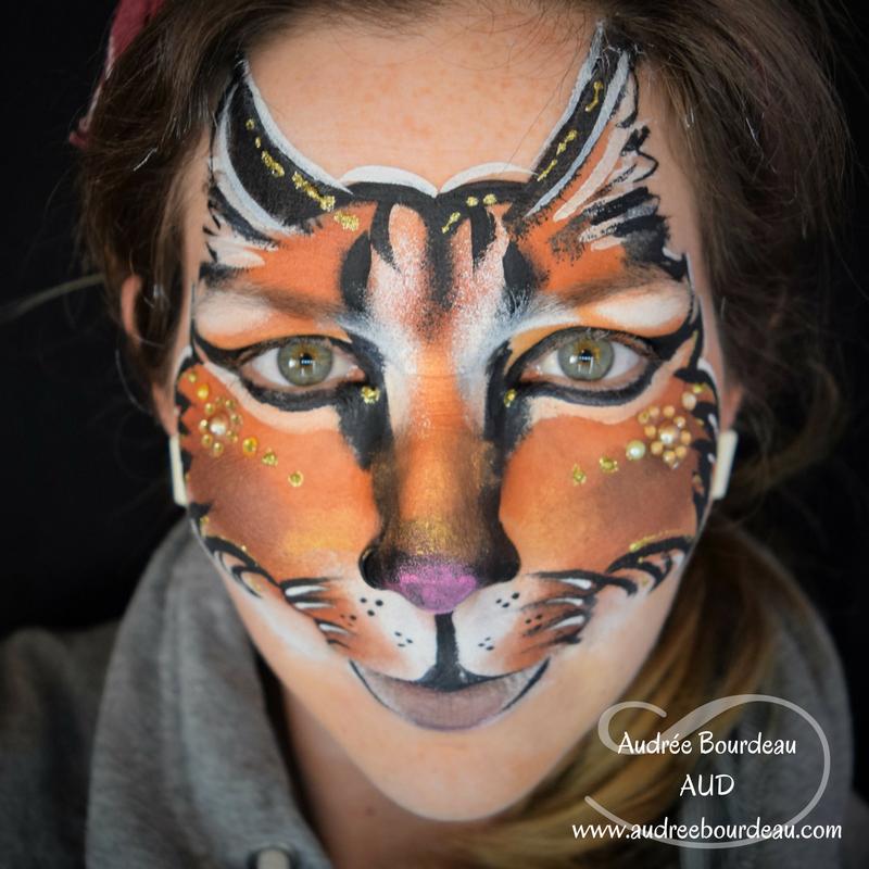 Audree Bourdeau Aud Artist Face Paint Caracal Artist Face Painting Face Paint