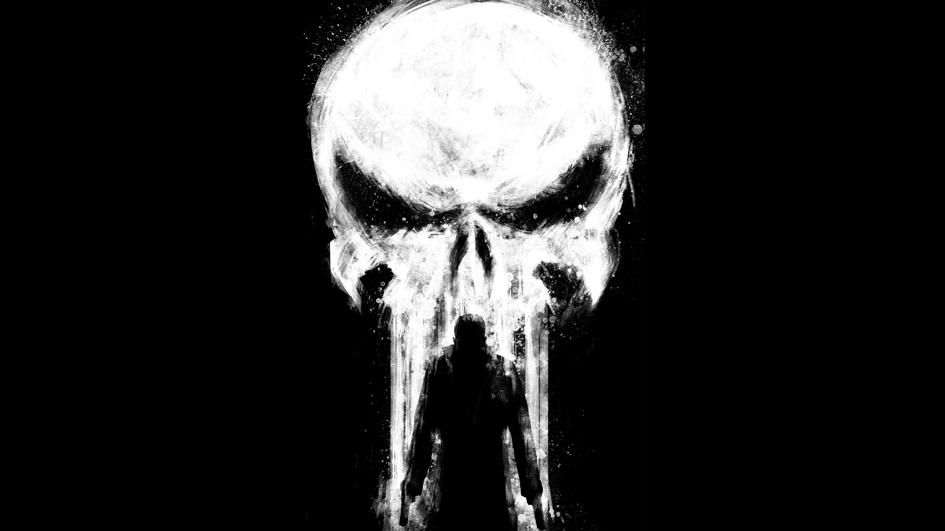 Punisher Paint Art 4k the punisher wallpapers, superheroes