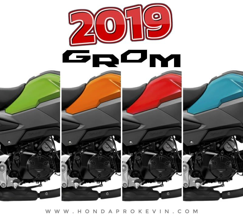 new 2019 honda grom 125 colors  cherry red  blue raspberry