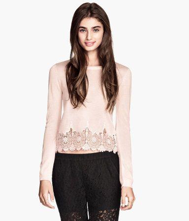 H&M Fine-knit Lace Top $29.95