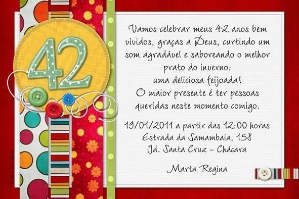 Convite Aniversario Adulto 2 Convites Pinterest
