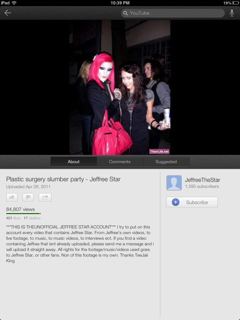 jeffree star-plastic surgery slumber party | music & movies & books