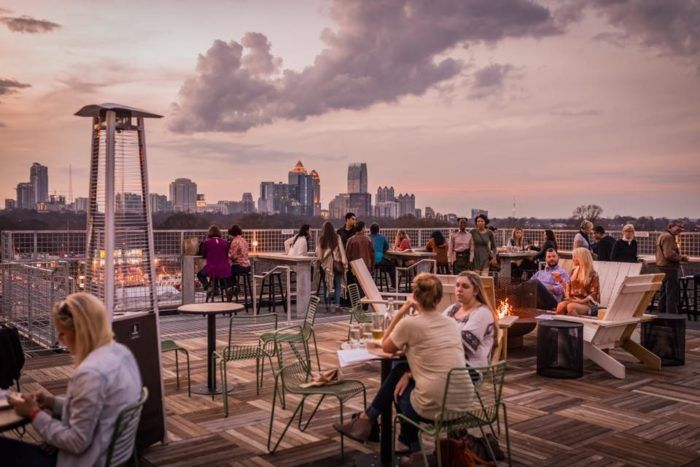 A Rooftop Brunch Spot Opened In Georgia And It S Totally Stunning Rooftop Brunch Georgia Vacation Ponce City Market Atlanta
