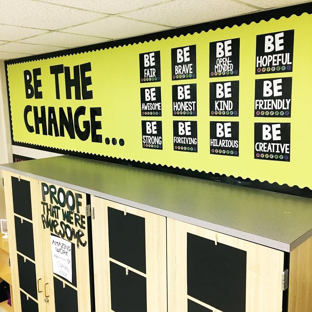 Be the Change Bulletin Board | Texas Lone Star Teacher | Classroom ...
