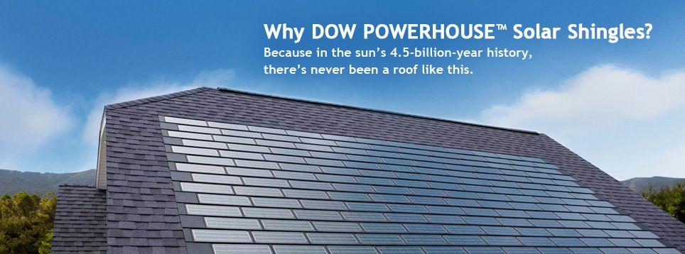 Dow Powerhouse Solar Shingle Camdendesignideas General