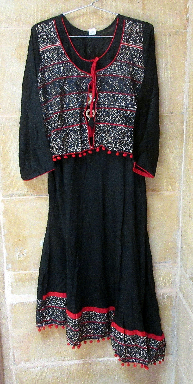 Indian Cotton Floral Design Dress Handmade Block Print Girl/'s Tunic Top Colorful Bohemian Dress Summer Dress Women/'s Boho Top