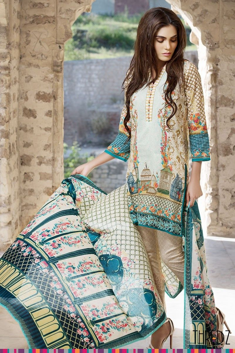 Warda spring summer collection 2016 vol 1 with prices beststylo com - Latest Thredz Summer Lawn Collection 2016 Vol 2 With Price Thredz Lawn Dresses