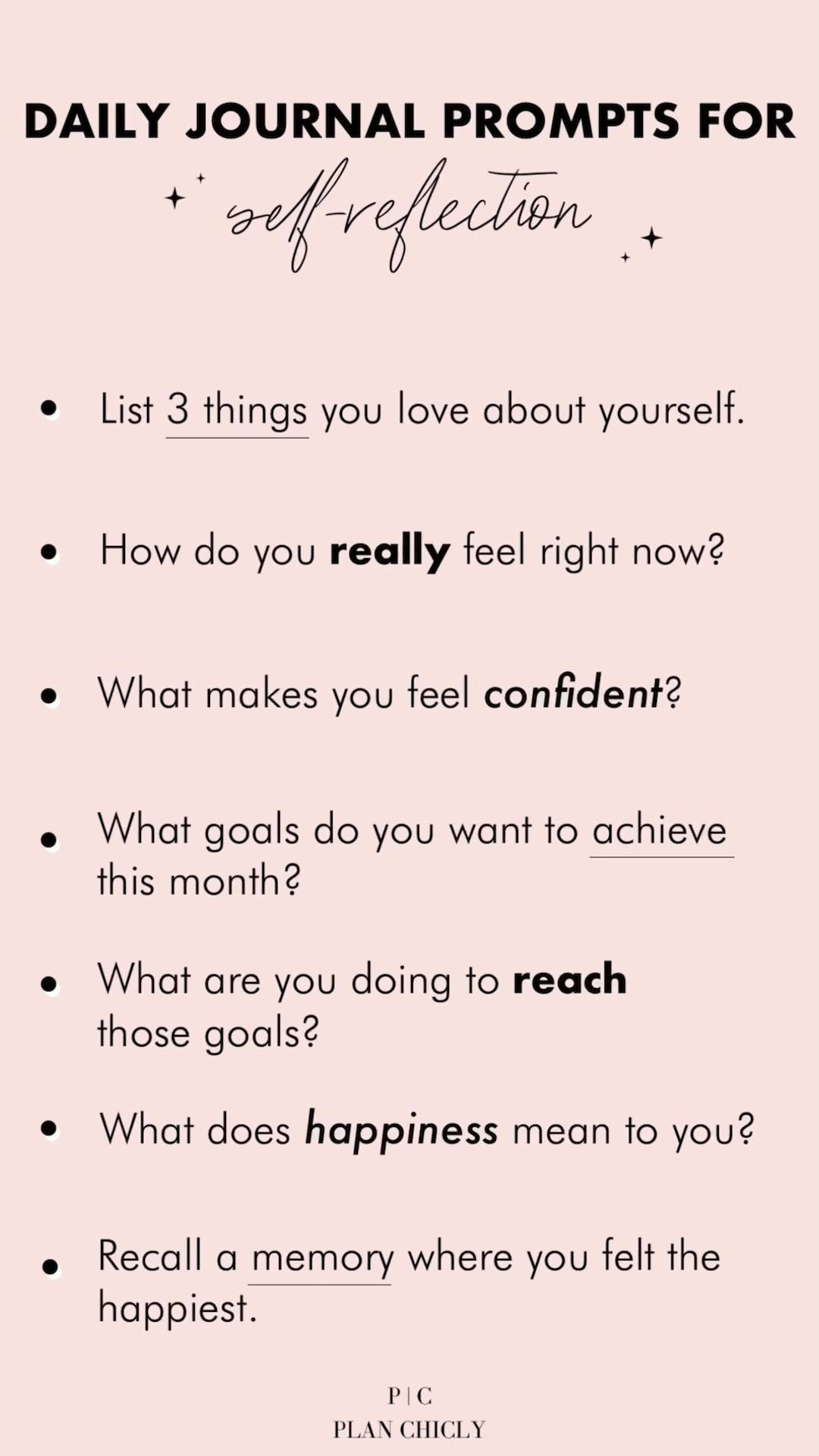 Positive Journal Prompts for Self Reflection & Self Care