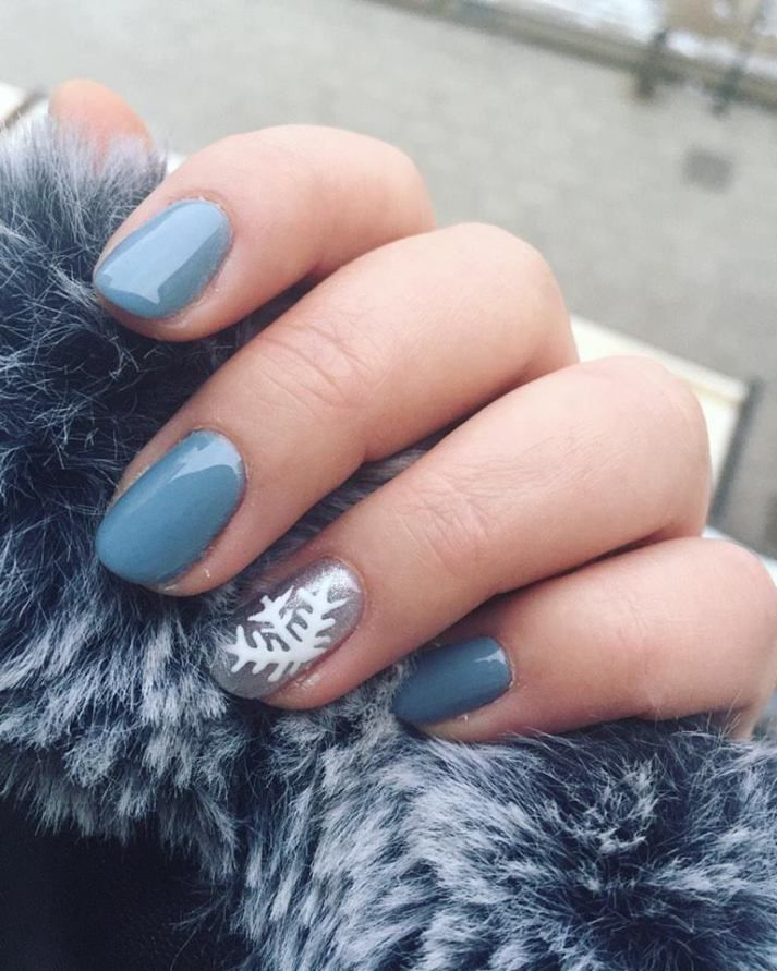 Winter Nails 2018 : winter, nails, Latest, Winter, Inspired, Ideas, Nails, Trendy, Nails,, Designs