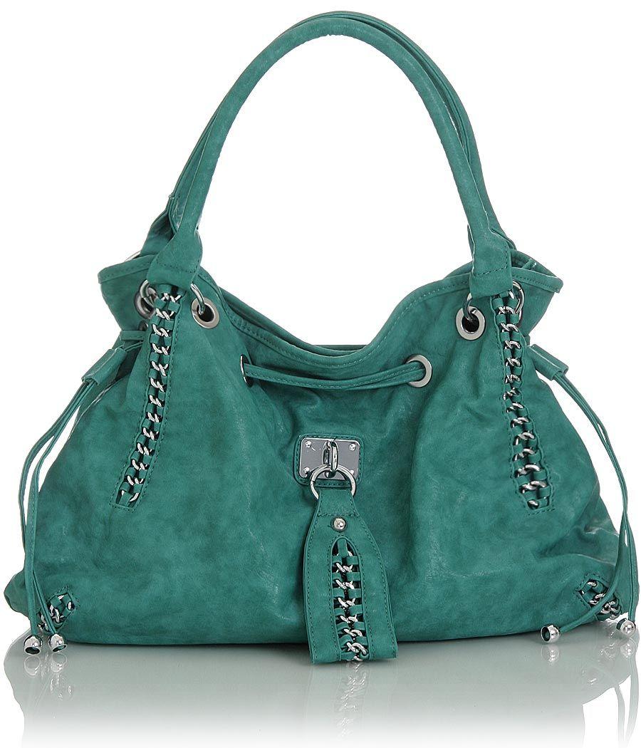 Turquoise Oversized ''Ripley'' Satchel Handbag | Bags! | Pinterest ...