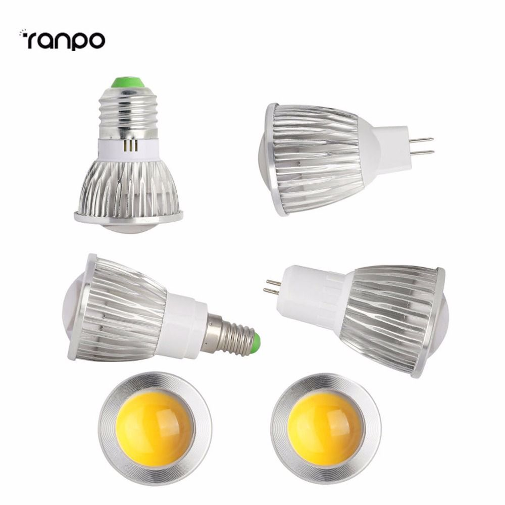 6w 9w 12w Led Cob Spotlight E27 Ses E14 Es Gu10 Mr16 Gu5 3 Cold Warm Natural White Lamp Bulb Light Bombillas Ac 85 26 White Lamp Light Bulb Lamp Bulb