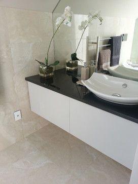 Travertino Porcelain Tile Collection - contemporary - bathroom tile