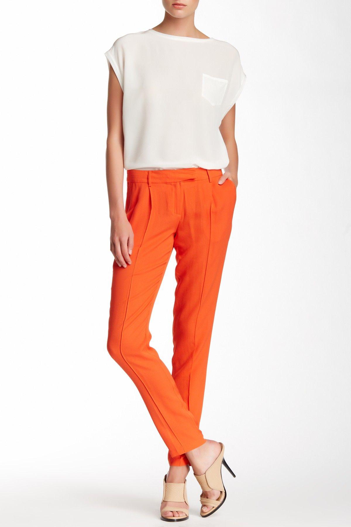 L.A.M.B. Silk Skinny Pant