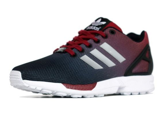 the latest 39293 2b2fd adidas zx flux red and white