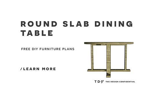 Free DIY Furniture Plans And Instructions On How To Build An Indoor Outdoor  Slab Round Dining