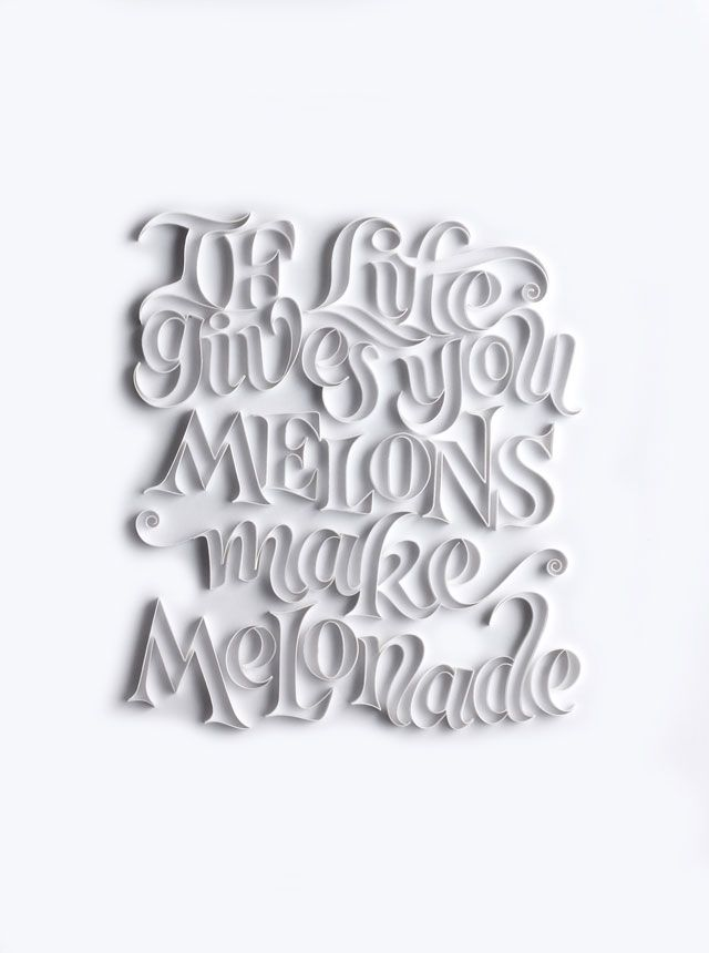 Delicate Paper Calligraphy Showcases a Cheerful Alphabet - Creators