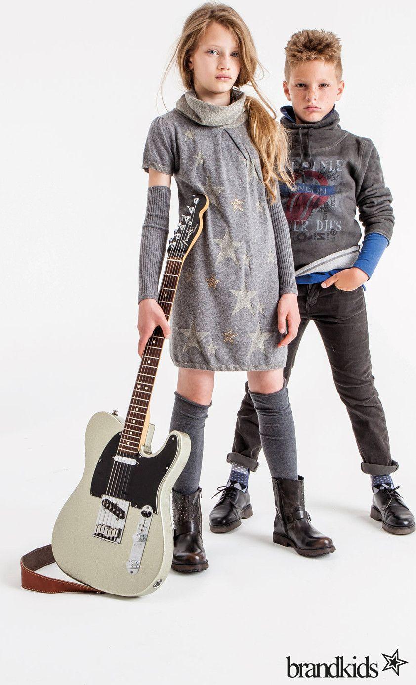 Gaudi Kleid mit Armstulpen grau - Mädchen Kleider €44,50 ...