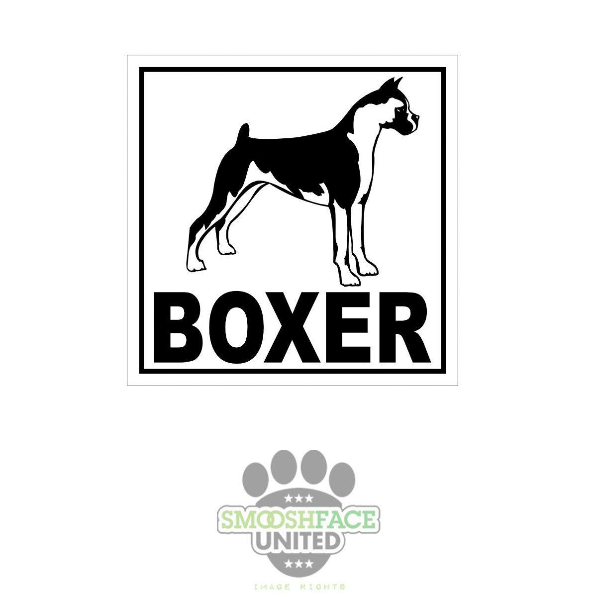 Boxer Decal Dog Car Vinyl Sticker Boxer Breed Bias Boxerlove Smooshface United Boxer Breed Boxer Love Boxer [ 1200 x 1200 Pixel ]