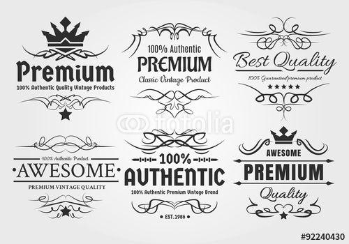 Vetor: Vintage Labels