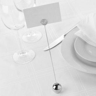 porte nom numéro de table mariage, boule | décoration mariage