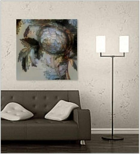Giant canvas and framed prints prints on acrylic wood and metal matching throw pillows and decorative accessories in the grisanthemums collection are