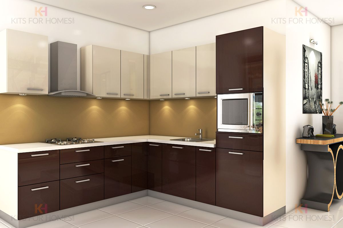 L Shape Kitchen Modularkitchen Lshapedkitchen Interiordesign