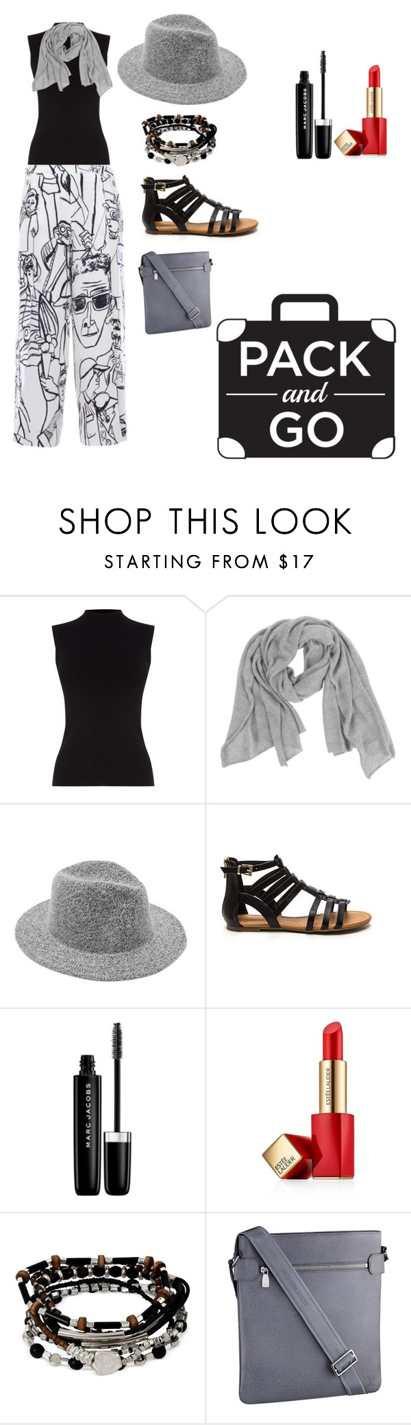 """Ready for a journey!"" by akdenizbasak ❤ liked on Polyvore featuring Emilio Pucci, Oasis, Samantha Holmes, Marc Jacobs, Estée Lauder, Kenneth Cole and Louis Vuitton"