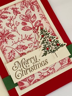Toile Tidings Dsp And Perfectly Plaid Tree Diy Christmas Cards