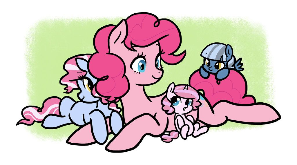 Pinkie and Her Daughters by kilala97 on deviantART